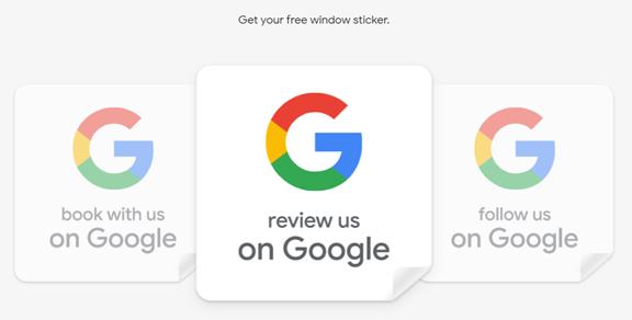 Google Marketing Kit Stickers Example