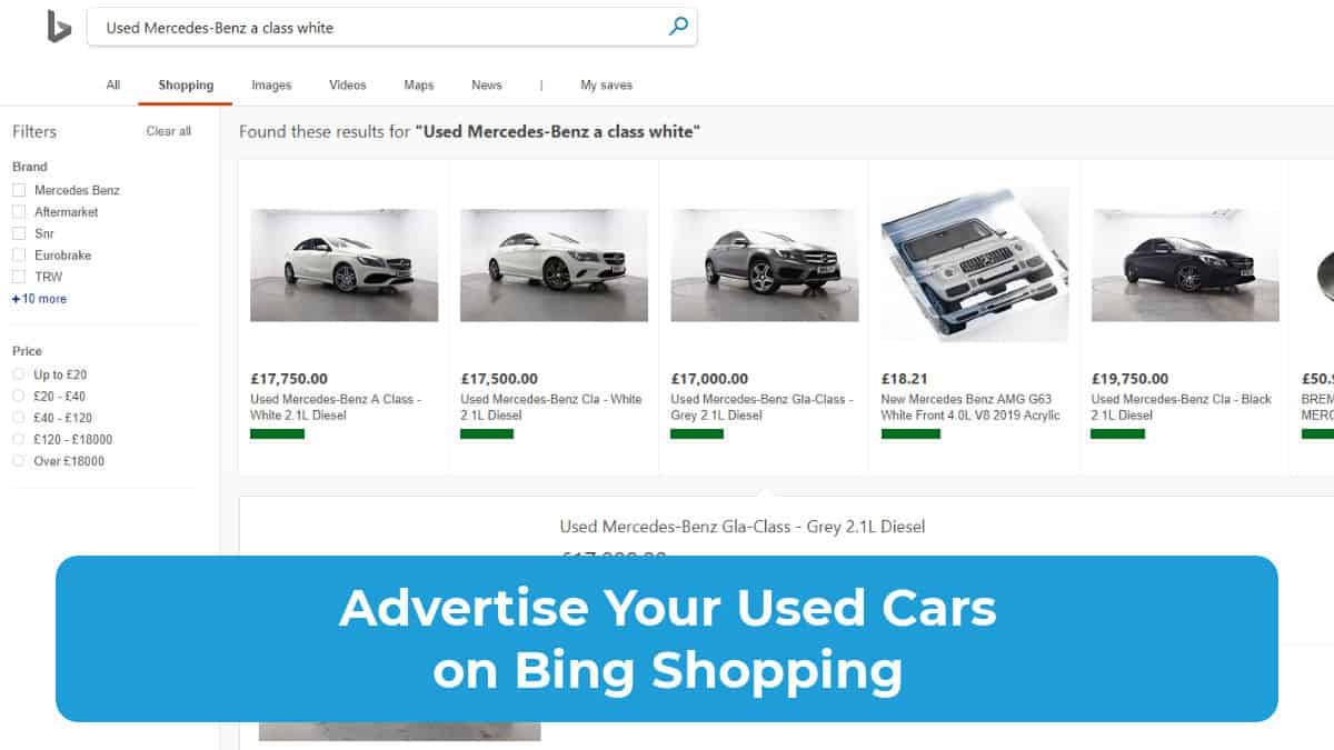 Advertise Used Cars on Bing Shopping Featured Image
