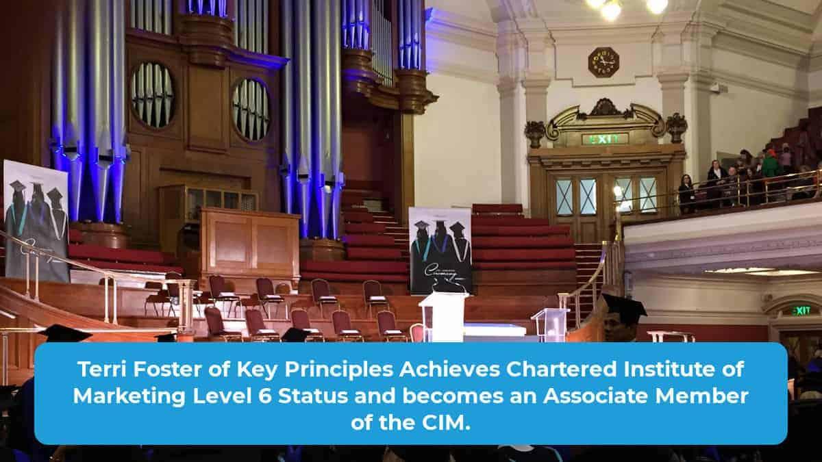 Terri Foster Achieves CIM Level 6 Status